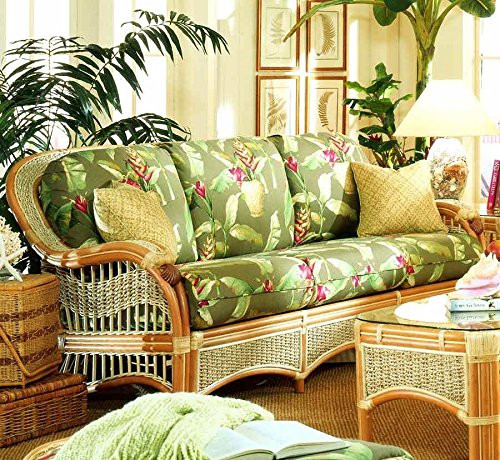 Wicker Sofa (Palm Floral Garden (All Weather)) price