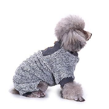 Outfit Haustier Pyjama Hund Warm Jumpsuit Gr/ö/ße S grau Herbst-//Winter-Kost/üm Hunde-Jumpsuit Anz/üge Shirts