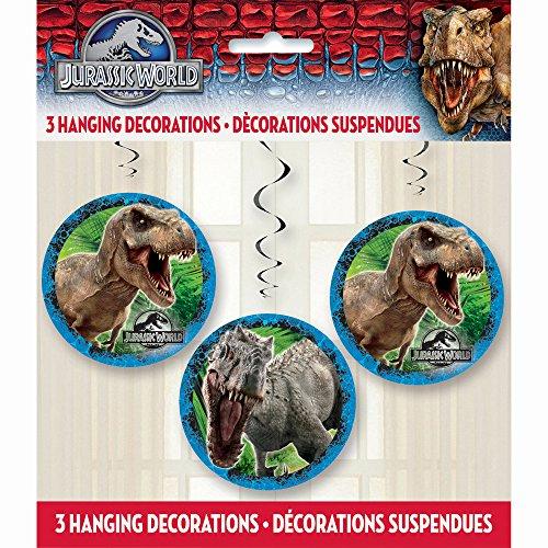 Hanging Jurassic World Decorations 3ct