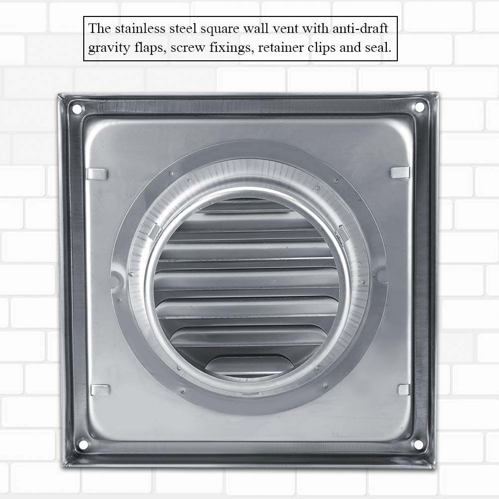 Superb Wall Air Vent 100Mm Stainless Steel Air Vent Square Tumble Download Free Architecture Designs Ferenbritishbridgeorg