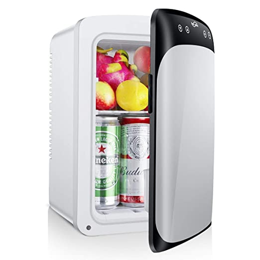 Housmile Upgraded 10L Electric Car Refrigerator, Portable Mini Fridge with  Cold and Hot Functionality, ECO Power Saving Mode - AC & DC