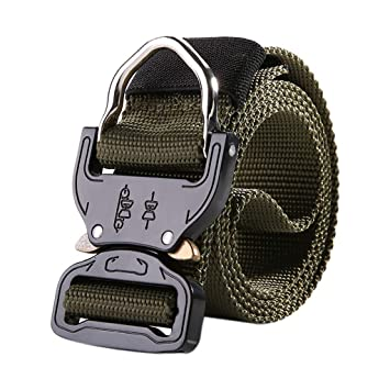 1inch Skinny Mens Tactical Belt Outdoor Training Web Ouick Release Waistbands