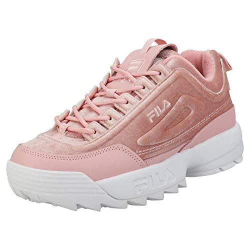 ce0d4ef53c05 Fila Disruptor Ii Premium Velour Trainers Pink  Amazon.co.uk  Shoes ...
