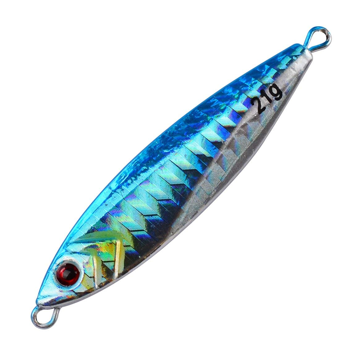 Garciasia 6,5 cm 21 g de Metal de Pesca se/ñuelos peque/ño 3D Realista Pesca Cebo Duro Artificial