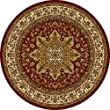 Home Dynamix Royalty 8083-200 Red 5-Feet 2-Inch Round Traditional Area Rug