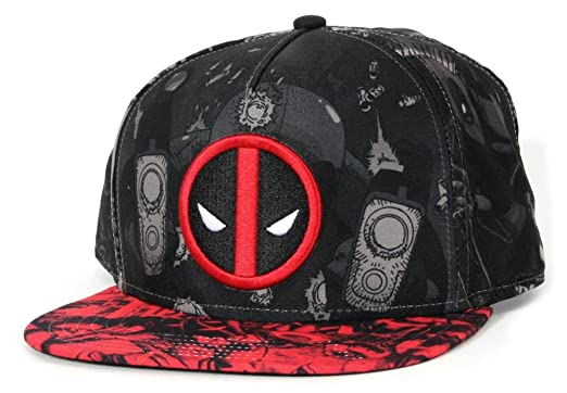 b8964d13137e81 Deadpool- Allover Print Snapback Hat 1 x 1in at Amazon Men's ...