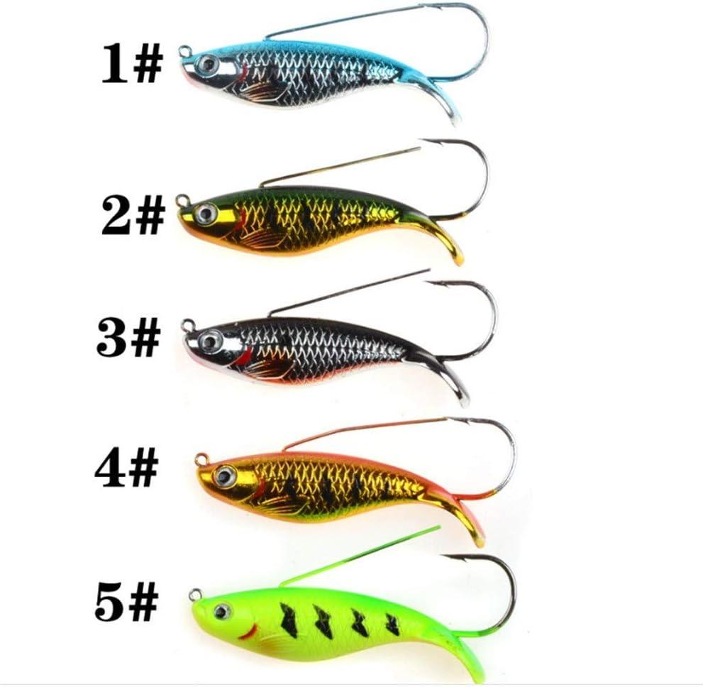 Color : 01 1pcs 8.5cm 21.2g Anti Grass Sinking Fishing Lure 5 Colors Available Wobbler Artificial Hard Bait Single Hook Laser Body Carp Llm-lure