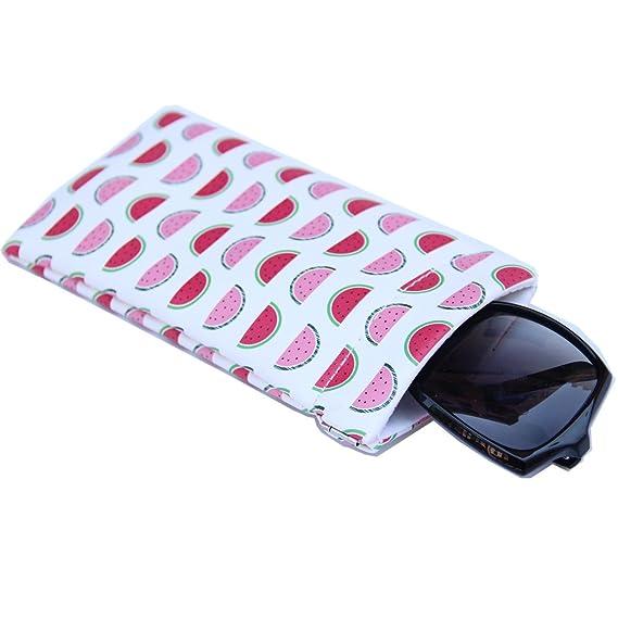 Donne Uomini Slip-in Holder Occhiali da sole Maschere della cassa del sacchetto delle donne Custodia Occhiali degli occhiali con panno di pulizia (Leopardo) EDtQWCW