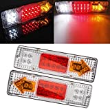 Ronben 2x 12V LED Truck Trailer Caravan Ute Rear Tail Stop Reverse Indicator Light Lamp