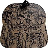 NEP Outdoors THERM-A-SEAT 1.5-Inch Thick Invision Camo Print Hunting Seat Cushion with Softek Foam and Velcro Strap