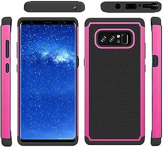 Prevently NEUF haute qualité simple Noir + Couleur vive Deluxe double antichoc armure TPU + PC Coque pour Samsung Galaxy Note 8