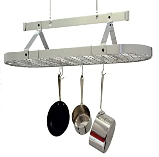 product image for Enclume 4-Foot Oval with Grid Premier Ceiling Rack, Chrome