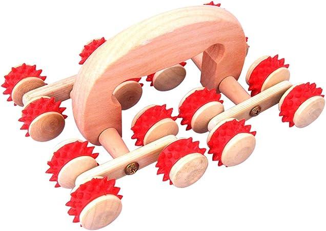 16,5 cm en bois rouleau poignée rouge pour décorer
