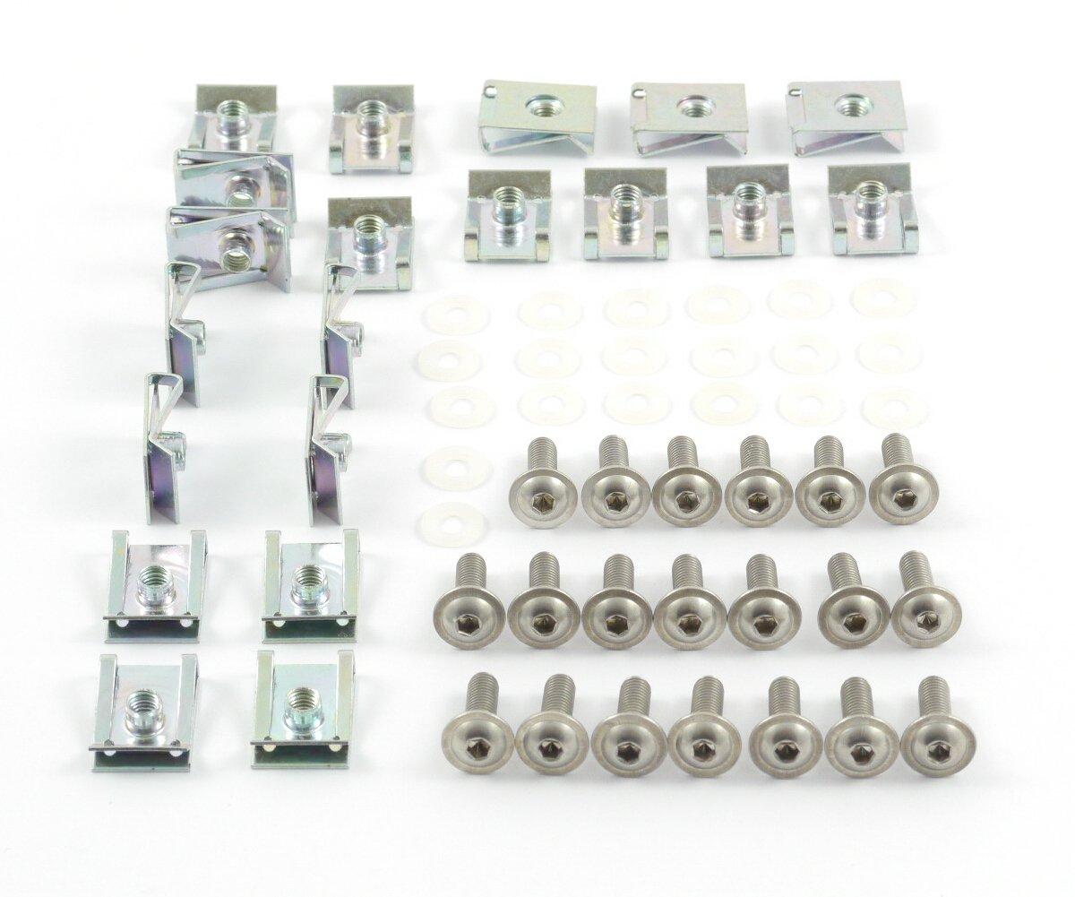 Tech-Parts-Koeln Motorrad Verkleidungsschrauben + Klemmen / Clips M5 Schrauben - 5x16mm 60 Teile