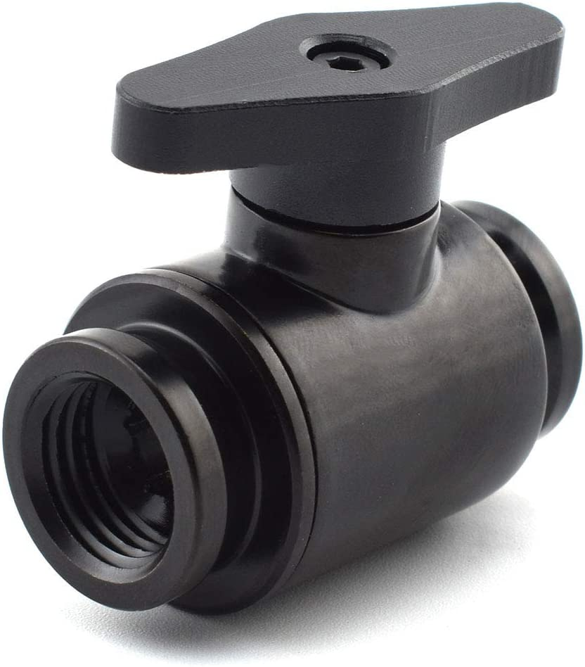 """SDTC Tech G1/4"""" Ball Valve Water Shutoff Valve Fitting for PC Water Cooling Systems"""