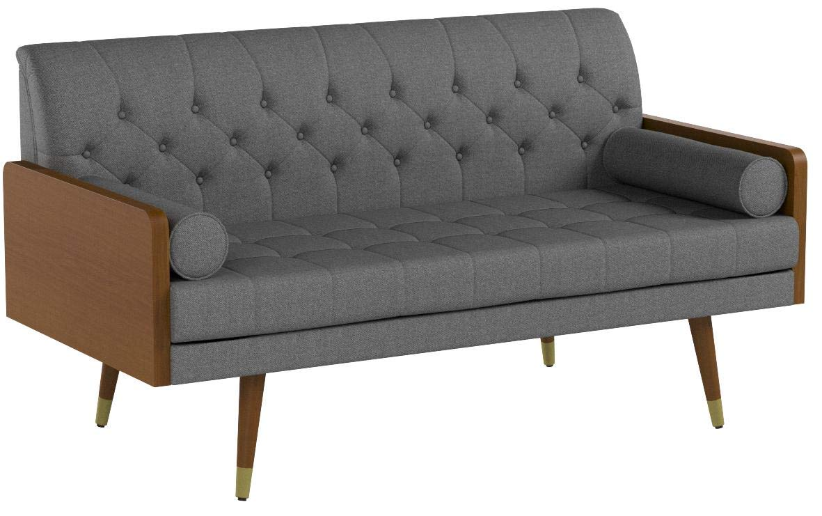 Christopher Knight Home Aidan Mid Century Modern Tufted Fabric Sofa, Gray by Christopher Knight Home