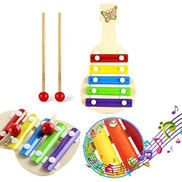 Hello22 Children Five-Tone Hand Knocking Piano Early Education Musical Instruments Toys for Toddlers Gift, 8.3 x 4.3 x 0.7inch