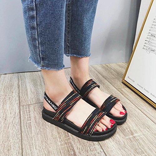 Plates Ouvertes Femmes Elastique Vin Ete Angelof Sandales Plage Chaussures Femmes Boheme FerméEs Sandales Escarpin Sandales xg1CqI