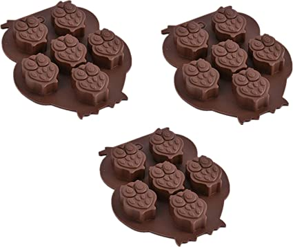 Popblossom 3 Pack X Owl Bird Silicone Mold Ice Cube Chocolate Soap Tray Party Maker Baking Ships From Usa Toys Games