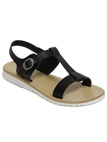 98e5db87c7dca Amazon.com | Pazitos Girls Black T-Bar Buckled Ankle Strap Trendy ...