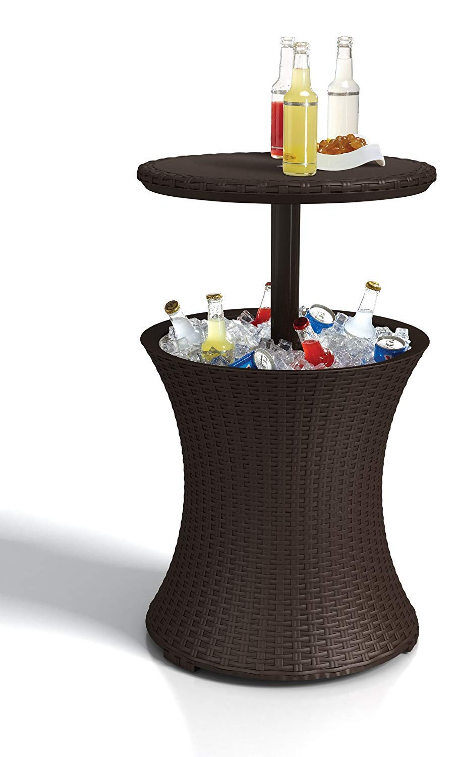Outstanding Keter Pacific Rattan Style Outdoor Cool Bar Ice Cooler Table Garden Furniture Brown Inzonedesignstudio Interior Chair Design Inzonedesignstudiocom