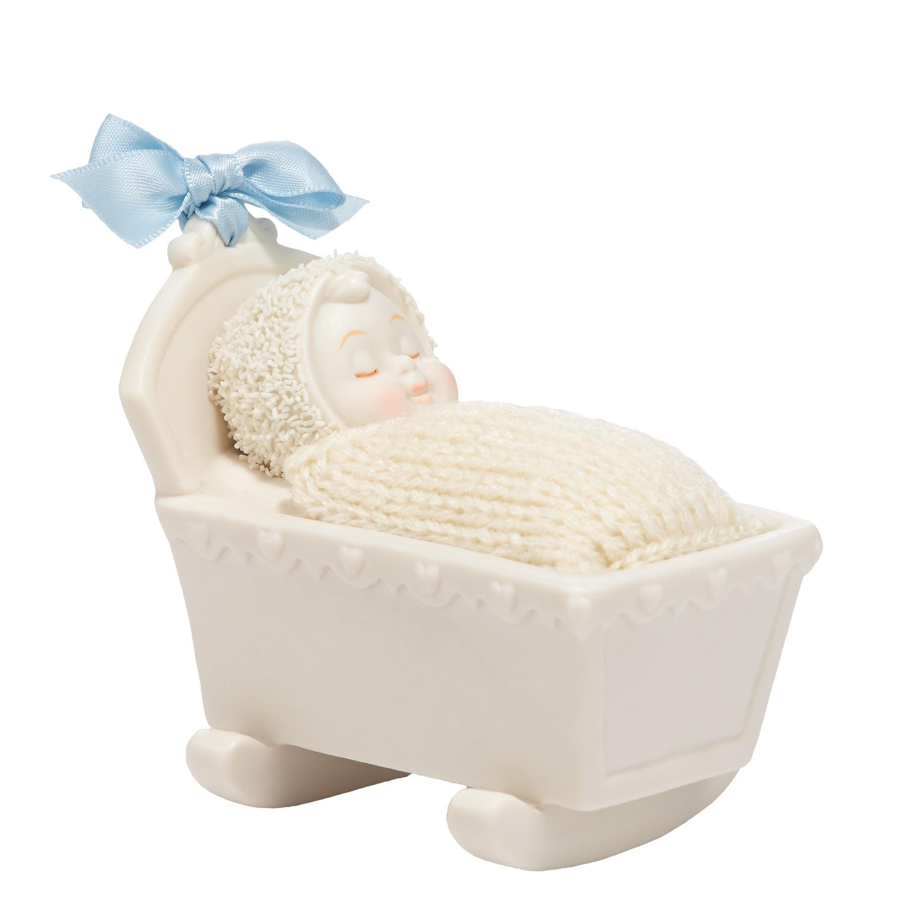 Department 56 Snowbabies Classics Rock-A-Bye Baby Boy Figurine, 3.25 inch