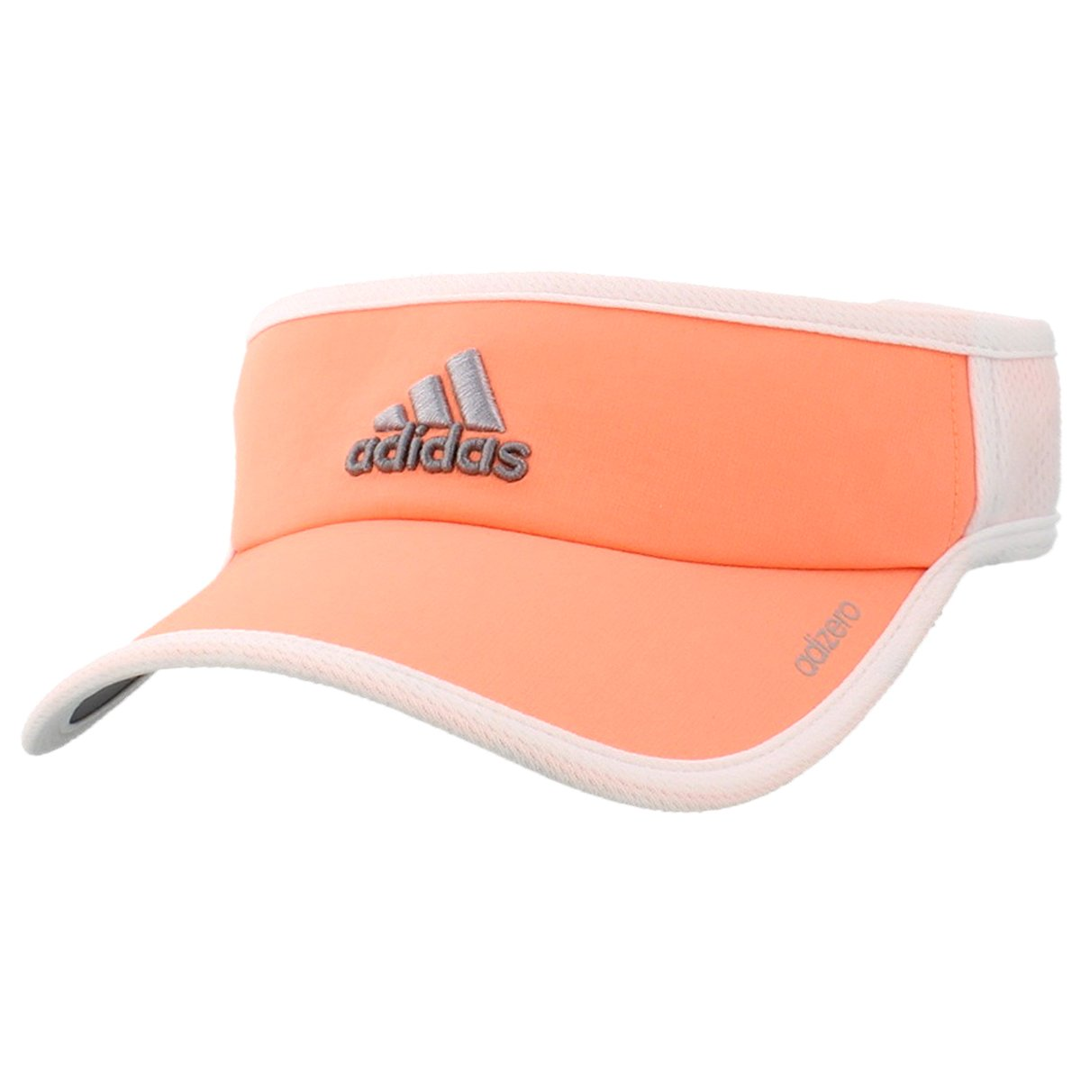 adidas Women's adiZero II Visor Black/White/Blaze Pink One Size Fits All Agron Hats & Accessories 5127587-White-1