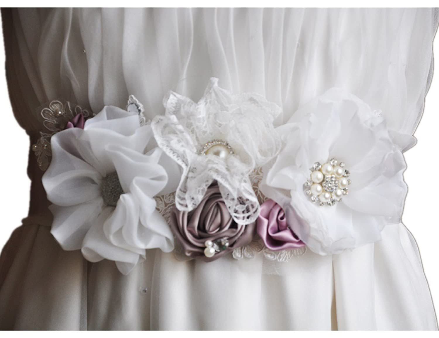 Hand Sewing Bride Accessories Special Combination Flower Belt