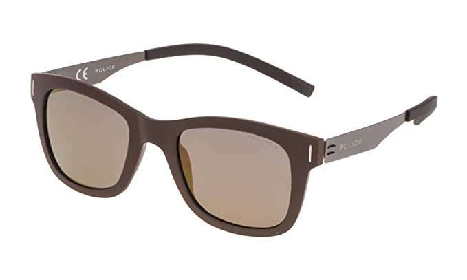 Police SPL170N506XKG Gafas de sol, Marrón, 50 Unisex: Amazon ...