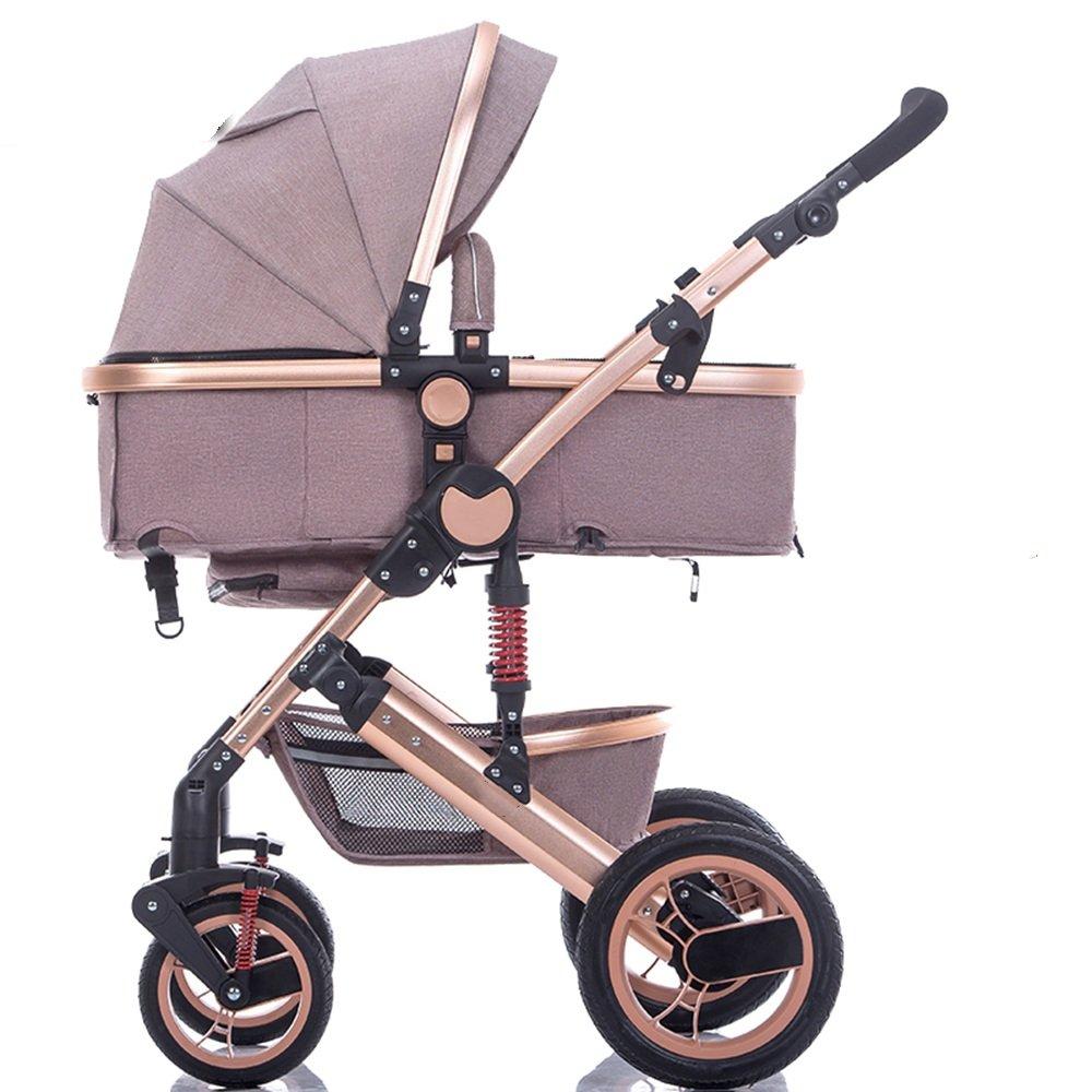HAIZHEN マウンテンバイク ベビーシッターベビーベビーカー新生児の子供用ベビーカー0-36ヶ月古いベビーカーと耐候カバー 新生児 B07C85R2SN カーキ カーキ