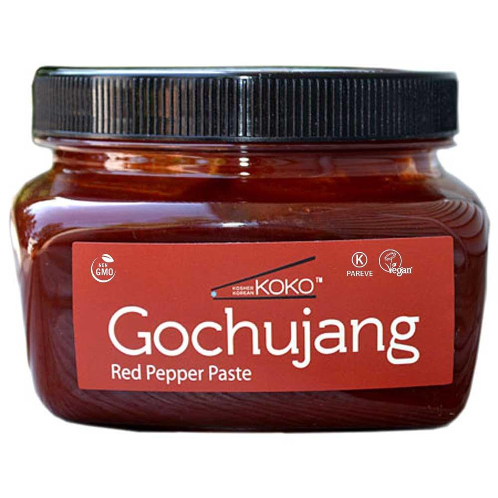 KOKO Food Koko Gochujang (Fermented Hot Pepper Paste) 15.8oz(450g) - Certified Kosher Gochujang - Premium Gluten-free 100% Korean all Natural