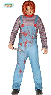 cb954c830d5 Party Discount New! Mens Chucky Costume, One Size: Amazon.co.uk ...
