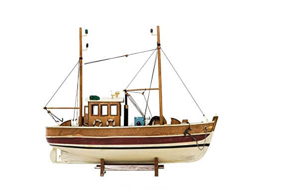 Barco rastreador del barco de pesca barco de madera modelo de la nave
