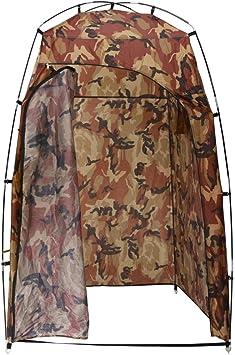 vidaXL Cabina para Ducha/WC/Vestidor Camuflaje Carpa Toldo Tiemda de Baño Camping Acampada Privacidad Cubierta Ocultación Plegable Refugio