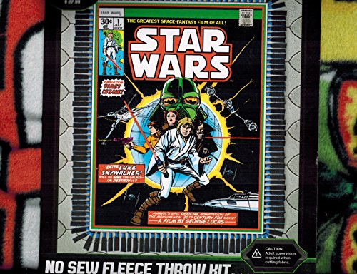Camelot Throw - No Sew Fleece Throw Kit - Star Wars - Comic Book Cover Design