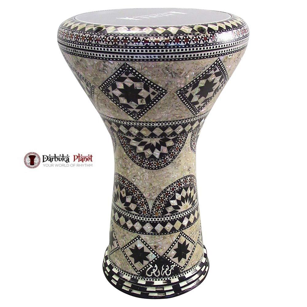 Gawharet El Fan 17'' Mother of Pearl Darbuka''Mebsuta'' Darbuka Drum Percussion