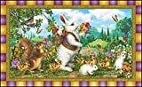 Toland Home Garden Classic Bunny 18 x 30 Inch Decorative Rabbit Floor Mat Spring Easter Doormat