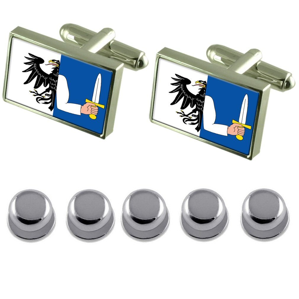 Shirt Dress Studs Connacht Flag Cufflinks