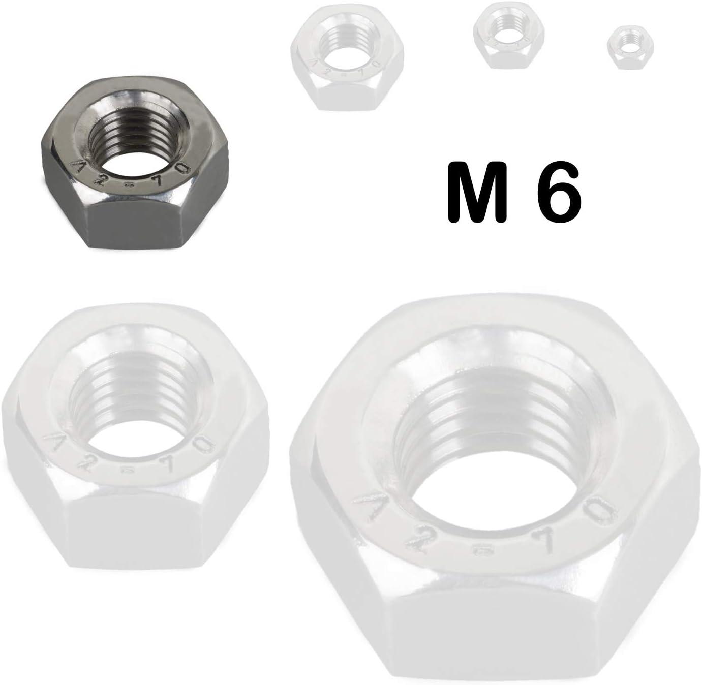 50 x Mutter M4 EDELSTAHL SECHSKANT M3 bis M10 V2A VA A2 DIN 934