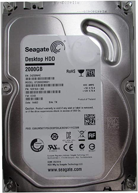Seagate ST2000DM001 - Disco Duro SATA III (2 TB): Amazon.es ...