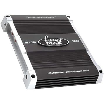 Lanzar MXA214 800W Amplificador MOSFET puenteable de 2 Canales