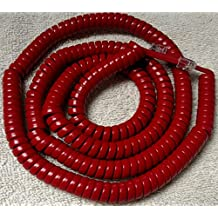 AT&T Trimline Red 25' Ft LONG Handset Phone Cord by DIY-BizPhones