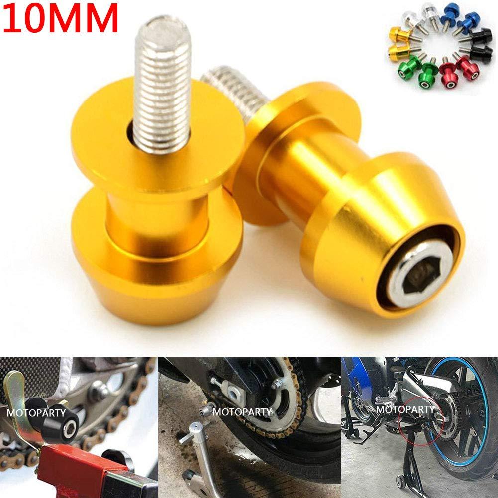Motoparty 10mm CNC Swingarm Slider Spools Paddock Stand Bobbins Swing Arm For KTM DUKE 690 SM SMC 990 990R 1190 1190R RC8 Supermoto 950 990 Adventure 990 Swing Arm Spools Slider