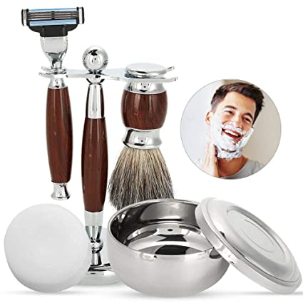 Juegos de Afeitar Kit para hombres Manual Regalo de Lujo máquina afeitar  kit con cepillo de df3479d15508