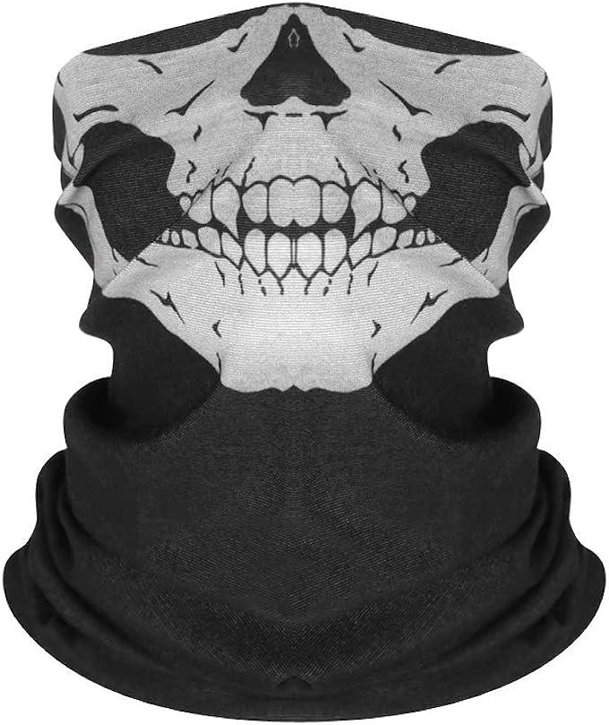 Skull Schlauchtuch Halstuch Bandana Totenkopf Biker Motorrad Multifunktionstuch