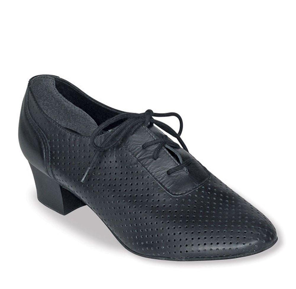 Ladies Large Lace up ballroom shoe (11, Black)