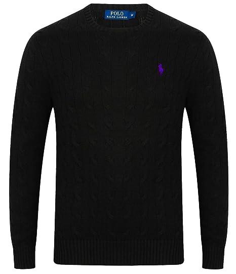 007822f62 Ralph Lauren Men s Crew Neck Cable Knit Jumper S - XXL  Amazon.co.uk ...
