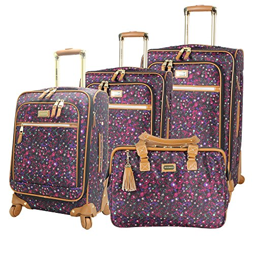 Steve Madden Luggage Honey 4 Piece Spinner Collection (Purple) by Steve Madden Luggage