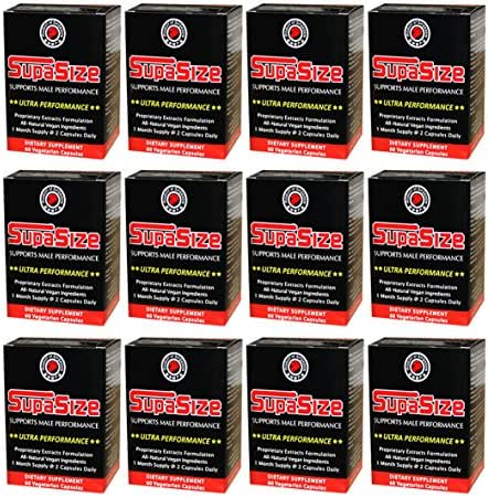 SupaSize for Super Size & Male Performance (60 Capsules) - 12 Box Set