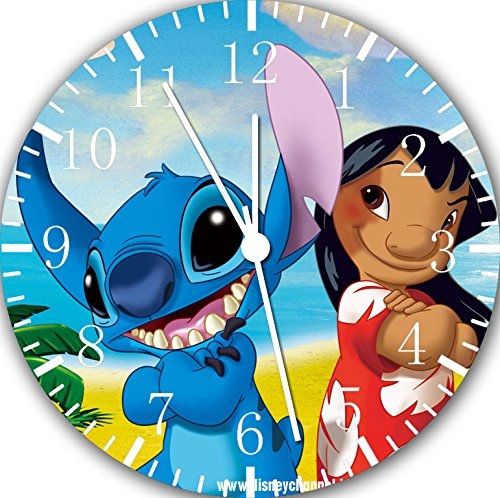 Lilo & Stitch Frameless Borderless Wall Clock E155 Nice For Gift or Room Wall Decor